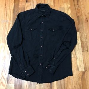Shipmen Supply Distressed Button Up Shirt